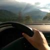 Precious Volvo at the peak of the mountain